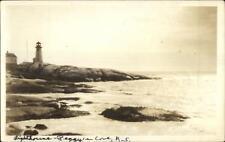 Peggy's Cove Digby Nova Scotia Lighthouse Real Photo Postcard