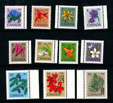 Mint Never Hinged/MNH Flowers Canadian Stamps