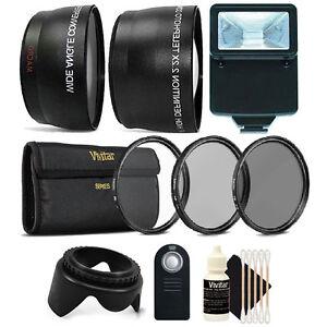 52mm Fisheye Telephoto & Wide Angle Lens + UV CPL ND + Accessory Kit for Nikon