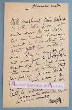 L.A.S AMAN-JEAN Peintre graveur élève de Lehmann né à Chevry Cossigny Lettre LAS