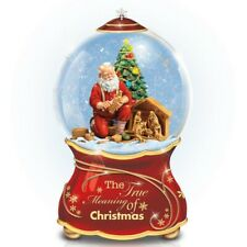 Thomas Kinkade Bradford Exchange True Meaning of Christmas Snow Globe