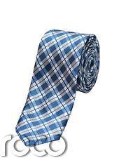 Chicos Plaid azul Corbata, Delgada Corbatas, chicos Plaid Accesorios, Lazos Azul