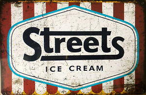 STREETS ICE CREAM Rustic Vintage Metal Tin Sign Man Cave,Garage,Shed Bar & Home