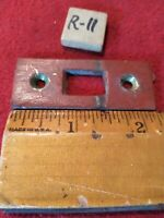 "Vtg. Solid Brass  2 1/4""x 15/16""Mortise Lock Striker Plate  Keeper Jamb R11"