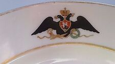 CZAR NICHOLAS II RUSSIAN PLATE USED BY IMPERIAL FAMILY LAST CZAR RUSSIA SIGNED