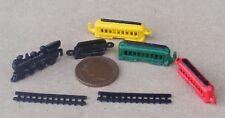 1:12 Scale 7 Piece Metal Train Set Tumdee Dolls House Nursery Accessory Toy