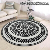 Round Mandala Floor Mat Rug Carpet Living Bedroom Mat Anti-slip 60/80/100/120CM