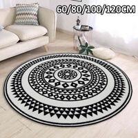 Round Mandala Floor Mat Rug Carpet Living Bedroom Mat Anti-slip 60/80/100/120CM