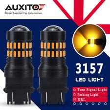 AUXITO 2x 3157 LED Bulbs Amber Indicator Turn Signal Light 3156 3057 T25 4157