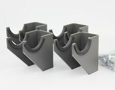 4pcs Strong Metal Steal Curtain Bar Holder Bracket 35mm Diameter
