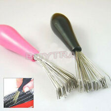 Comb Hair Brush Cleaner Cleaning Remover Embedded Tool Plastic Handle_S`