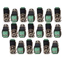 Lot of 20 pcs Coax Coaxial CAT5 To Camera CCTV BNC Video Balun Connector