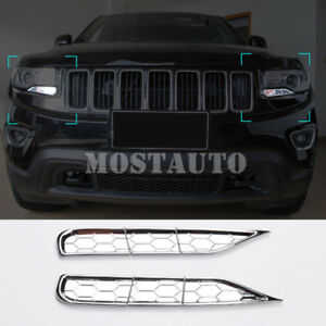 For Jeep Grand Cherokee  ABS Chrome Front Headlight Spray Trim Cover 2014-2016