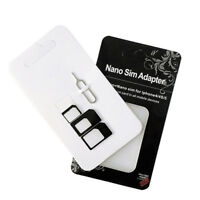 New  2 Set  Nano SIM Card Adapter 4 in 1 micro sim adapter with Eject Pin