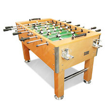 0 5FT Pub Size Walnut Colour Soccer / Foosball Table 4 Drink Holders
