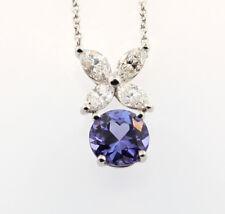 Tiffany & Co. Victoria Tanzanite Diamond Pendant With Tiffany Box