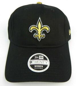 NEW ORLEANS SAINTS NFL NEW ERA 9TWENTY WOMENS BLACK RELAXED LADIES HAT CAP NEW!