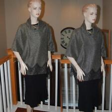 SPECTACULAR ST. JOHN KNIT COUTURE SHAWL METALLIC  KNIT COLLECTION   SZ 8