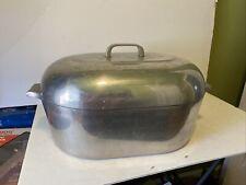 Vintage Magnali 00006000 te Ghc 17qt Quart Dutch Oven Roaster With Trivet Usa Made Xl Rare