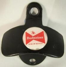 BUDWEISER BEER BLACK FINISH WALL BOTTLE CAP OPENER NEW