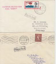 1961-63 lot of 2 x Reykjavik Iceland Paquebot covers ~ RMS Caronia & RMS Andes