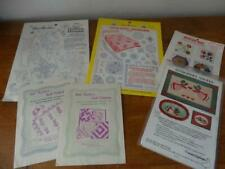 Lot 6 vintage Quilting Designs&patterns&hot iron transfers-Aunt Martha&others