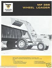 Equipment Brochure - Massey Ferguson - Mf 356 - Wheel Loader - c1968 (E2602)