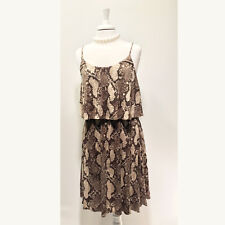 H&M | Brown Snakeskin/Reptile Print Tiered Jersey Dress  – Sz M