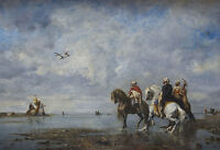 "perfact 36x24 oil painting handpainted on canvas ""Hunting heron""@N3141"