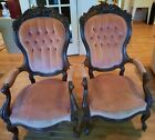 Set of 2 Vintage Victorian Chairs - Pick up only!