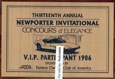 1986 VIP Newport Pantera Fabulous Ford s Car Show Classic Auto Wall Plaque POCA