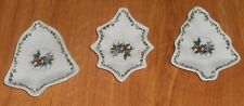 PORTMEIRION HOLLY & IVY SET 3 CHRISTMAS DISHES BELL HOLLY TREE SHAPES HOLIDAY