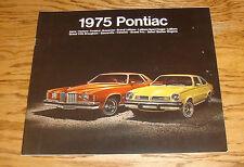 Original 1975 Pontiac Full Line Deluxe Sales Brochure 75 Firebird Grand Prix