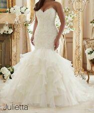 Fashion Hot Sale Plus Size Applique Beaded Organza Bridal Wedding Dress