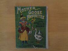 Vintage Cloth Mother Goose Favorites Book Saalfield's Muslin Books Rare Antique