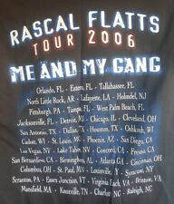 Rascal Flatts Tour 2006 Me and My Gang Black Tee Shirt Top Adult S Used