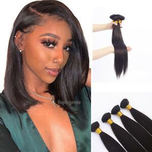 2# Brown 4Bundles Brazilian Straight Human Hair Extensions Fashion Human Hair