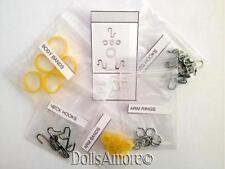 "Doll Repair- 5 Stringing Band Repair Sets For 8"" Ginny/Ma Strung 1950'S Dolls"