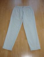 Neuwertige Herren Chino Jeans gerades Bein grau beige Gr. W36 L34