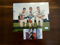 TED SIMMONS ROBIN YOUNT ROLLIE FINGERS HOF WSC BREWERS SIGNED PHOTO AUTO JSA