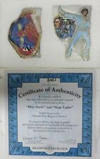 "Elvis Presley Bradford Exchange ""Blue Suade"" & ""Stage Lights"" Magnets With COA!"