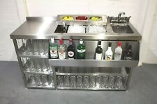 More details for modular cocktail station, insulated ice well & bar sink with shelving