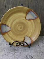 SANGO SPLASH Round Platter 12 in. Chop Plate 4951 Dinnerware Brown Drip