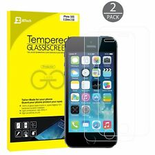 JETech 2-Pack iPhone 5s Screen Protector Tempered Glass Film for iPhone SE 5c 5