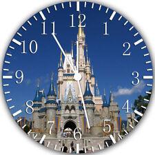 Disney Castle Frameless Borderless Wall Clock Nice For Gifts or Decor W317