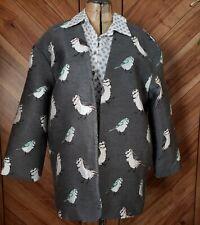 FRNCH Gray Birds Blazer Jacket M/L