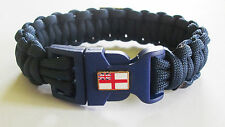 ROYAL NAVY SUBMARINER PARACORD WRISTBAND - SKULL & CROSSBONES/WHITE ENSIGN BADGE