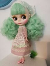 """12"""" Neo Blythe Doll From Factory Nude Doll Matte Face Mint Green Hair With Bang"""