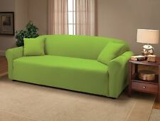 BEST PRICE-JERSEY STRETCH LIME SLIPCOVERS FOR SOFA/COUCH LOVESEAT CHAIR RECLINER