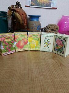Lot 5 Vintage Bar Soap Caswell-Massey Raspberry Pomegranate lemon floral rose